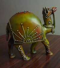 Wooden painting camel