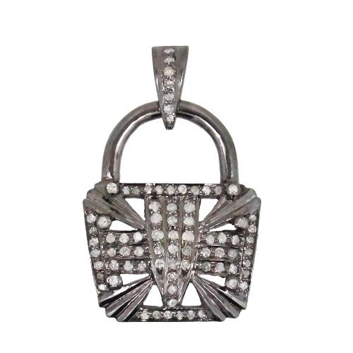 Charming Silver Diamond Charm/Pendant