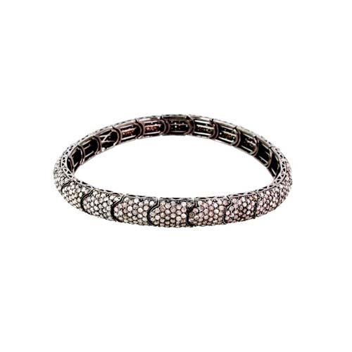 925 Sterling Silver Sober Looking Diamond Bracelet