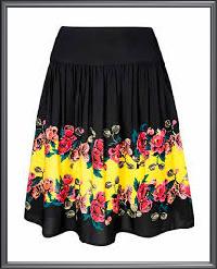 Ladies Floral Print Skirt