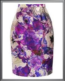 Mauve Printed Skirt