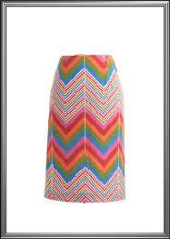 Multi Color Geometric Design Skirt