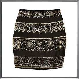 Ladies Embellished Mini Skirt