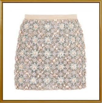 Ladies Embellished Mini Skirt