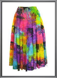 Ladies Tie & Dye Skirt