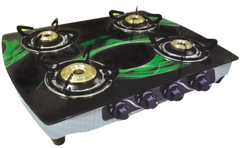 Glass Top Four Burner Gas Stove