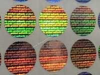 Authentic Product Holographic labels