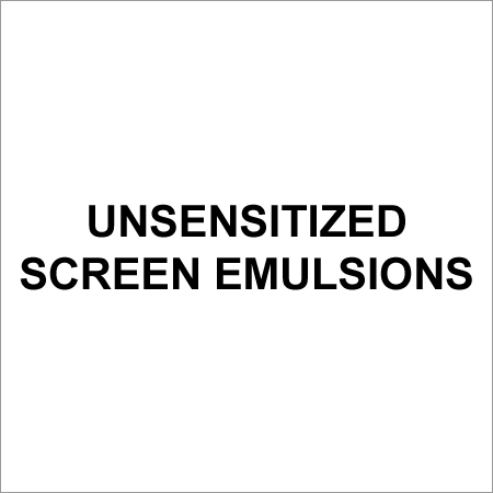 Unsensitized Screen Emulsions