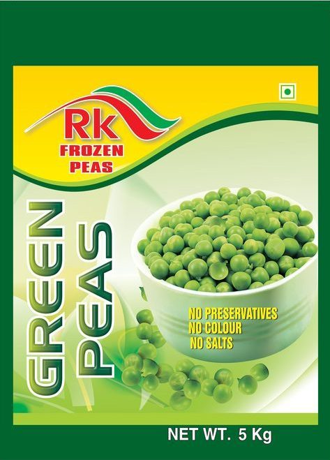 Green peas packing pouch