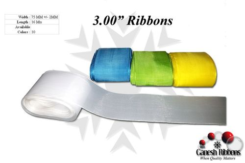 "3.00"" Plain Ribbons"