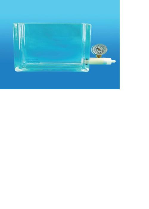 Other Vacuum Manifold Components - Glass Chamber with Vacuum Gauge, Valve