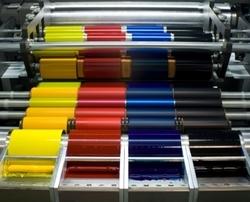 Ink Transfer Roller On Offset Press