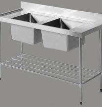 Dish Washing Equipment Two Sink Unit