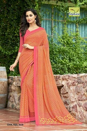 Orange Saree