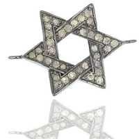 Designer Star Shape Silver Diamond Finding