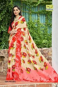 Digital Floral Print Saree