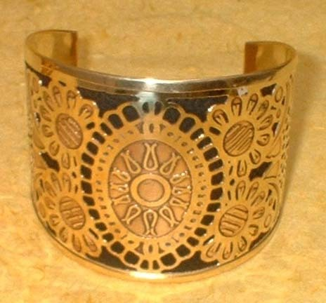 Metal Embossed Bangle