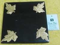 Resin with metal leaves stampings Coasters