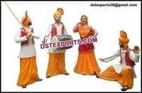 Punjabi Cultural Fiber Statues