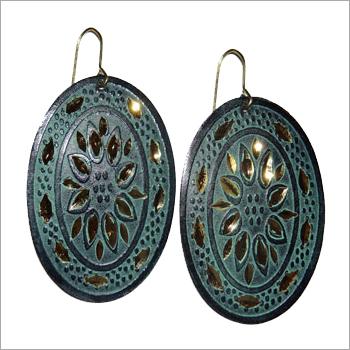Blue Gold Earrings
