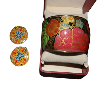 Flower Bangle with Earings