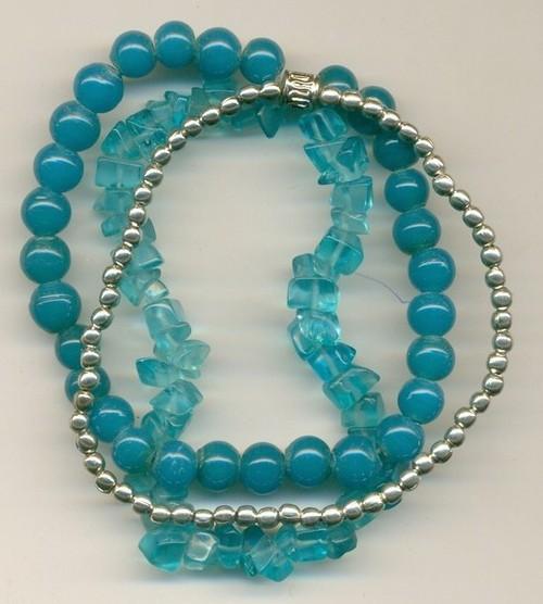 metal glaee beads combo Bangle
