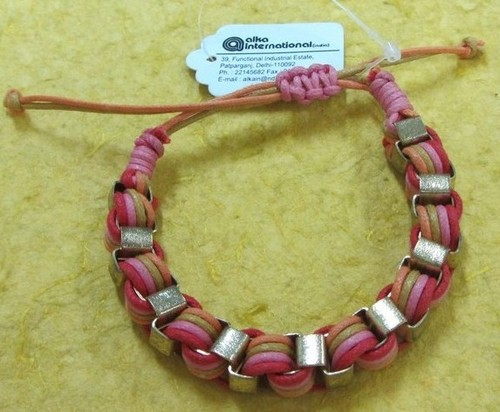 yarn metal combo Bangle
