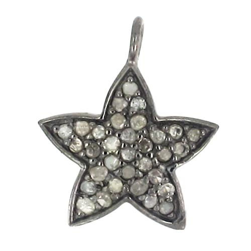 Sterling Silver Lucky Star Diamond Charm
