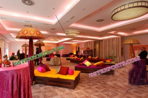 Indian Wedding Mehandi Stage Set