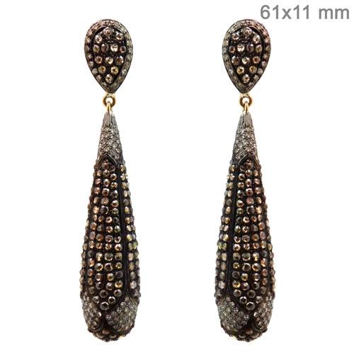 Slice Diamond Earrings