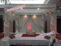 Fiber Crystal Mandap Set For Wedding