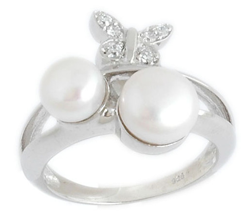 cheap pearl silver ring design, wholesale pearl rings supplier from india