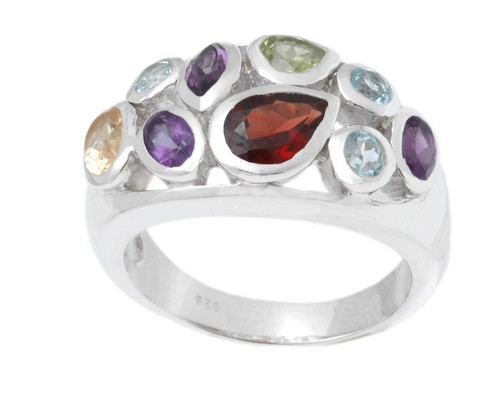 girls cocktail silver ring, partywear jewelry wholesale