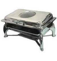 Rectangular Glass Lid Chafer  1/1 with Fuel Burner