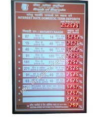 Bank Interest Display Boards