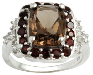 cushion shaped stone with small rounds accent stones ring design, designer finger ring