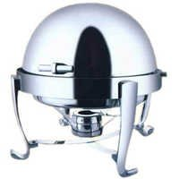Round Roll Chrome Legs Top Chafing Dish