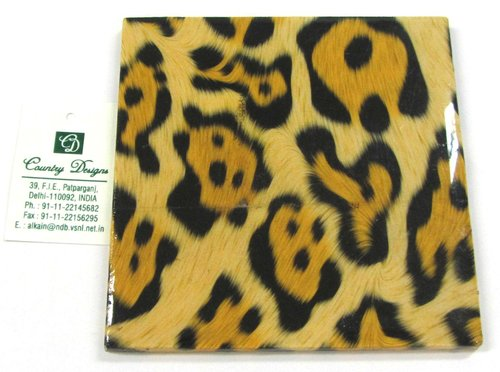 pu leather leopard print  Coaster