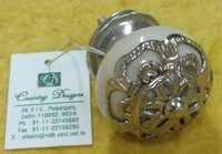 door knob metal cermic