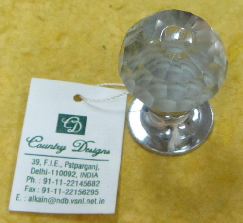 METAL GLASS BEADS COMBO DOOR KNOB