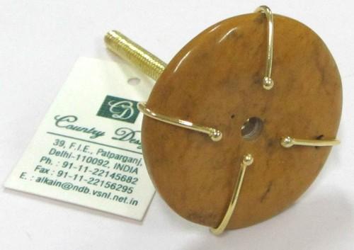 ceramic metal combo  door knob