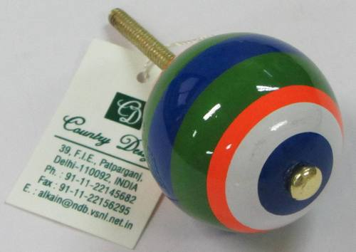 metal wood painted  door knob