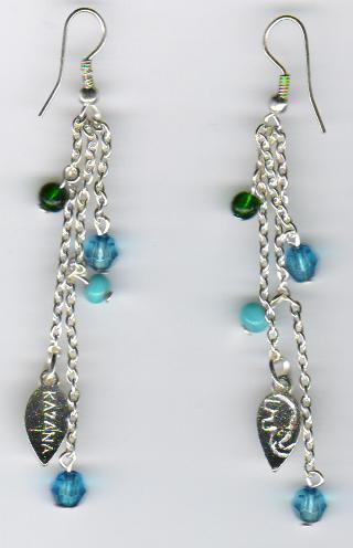 Silver Beaded Earring