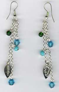 Silver Beaded Earring