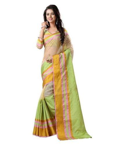 Multi Color Stylish Tussar Silk Saree