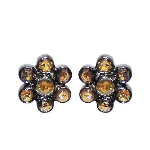 14k Gold Slice Diamond Stud Earrings
