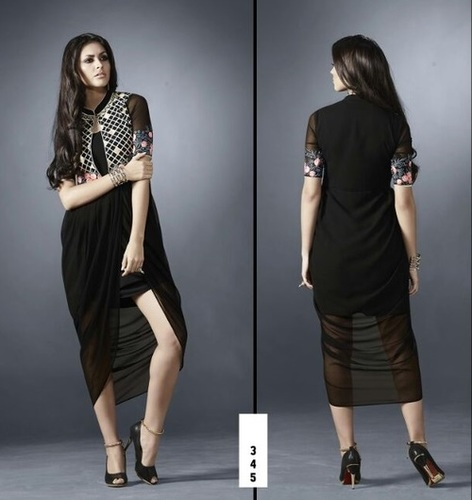 Black High-Low Style Kurti