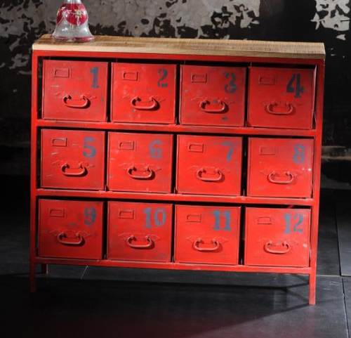 Industrial drawer chest