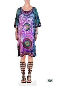 Digital Print Kaftan Beach Cover Ups