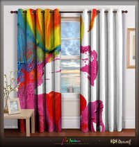 Devarshy Colorful Modern Art Designer Door Curtain
